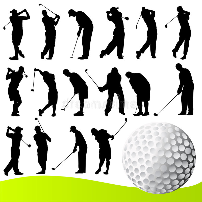 Download Golf player vector stock vector. Image of shot, swing - 9259757