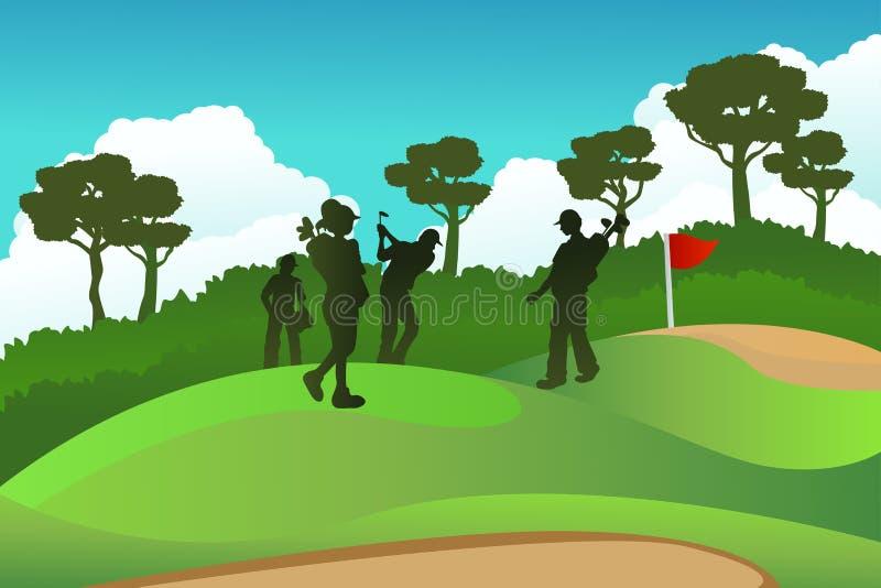 Golf Players Stock Image