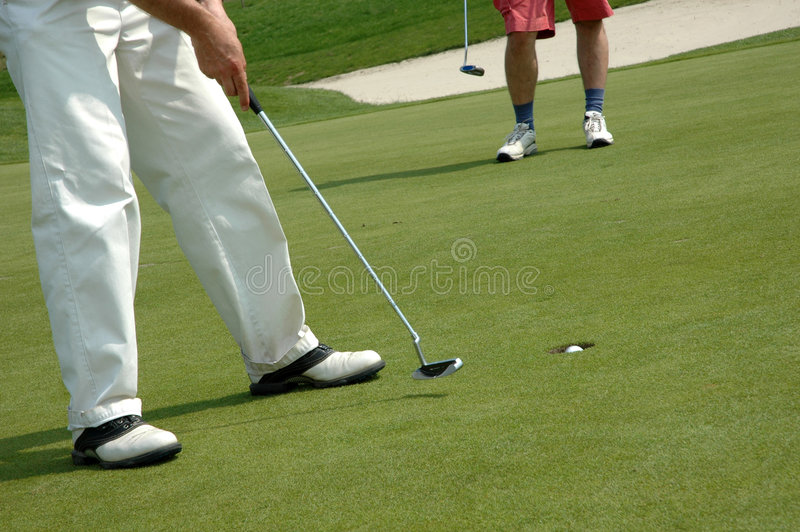 Golf players royalty free stock photos