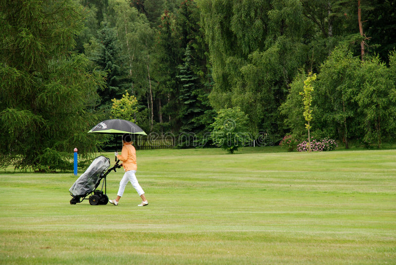 Golf - pluie images stock