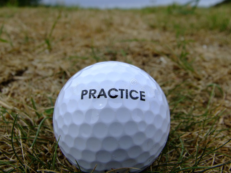 Golf practice ball stock photography