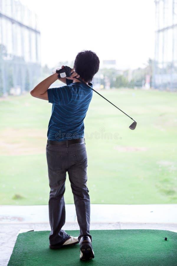 Golf practice royalty free stock photos