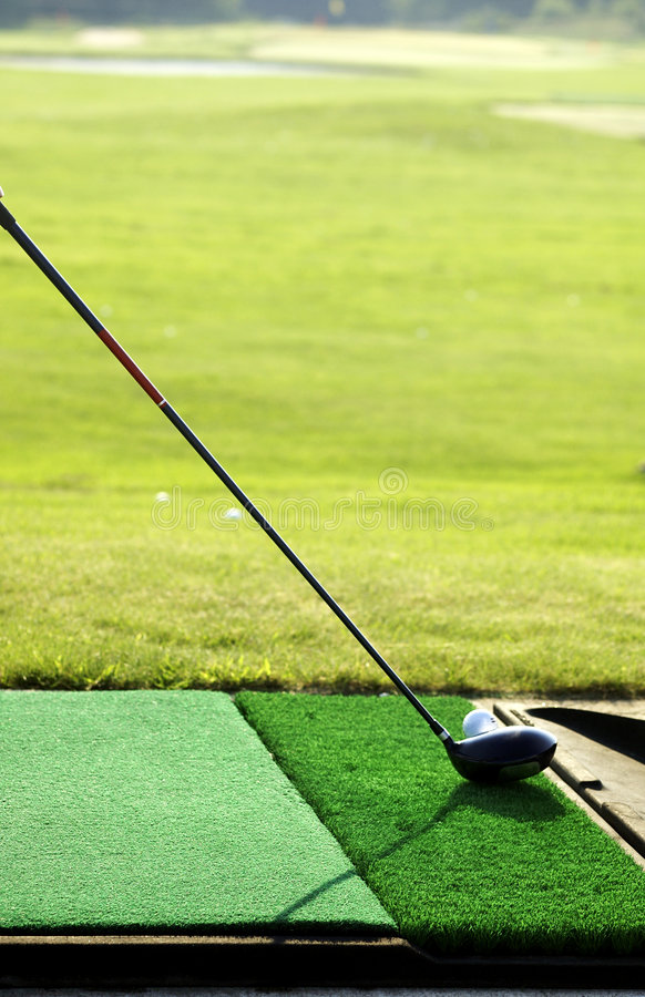 Golf-Praxis stockfotos