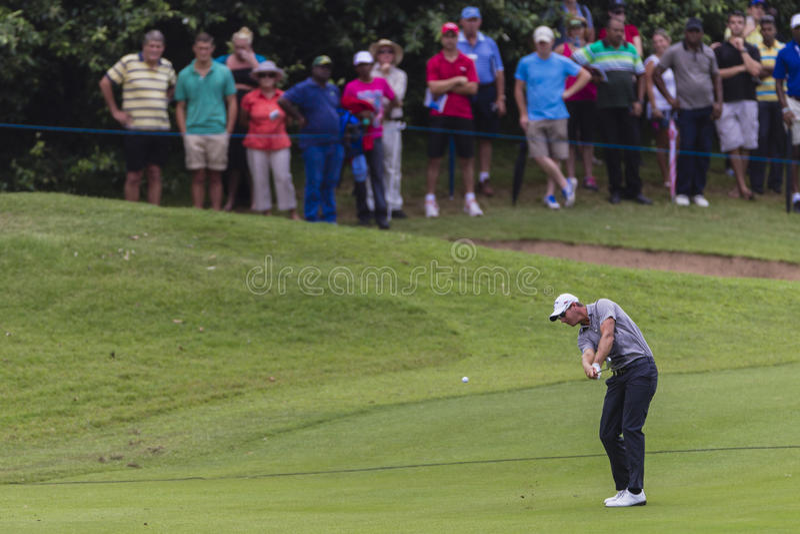 Golf Pro N. Colsaerts Iron Schot royalty-vrije stock afbeelding