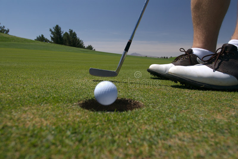 Download Golf putt going in stock image. Image of practice, golfer - 2629449