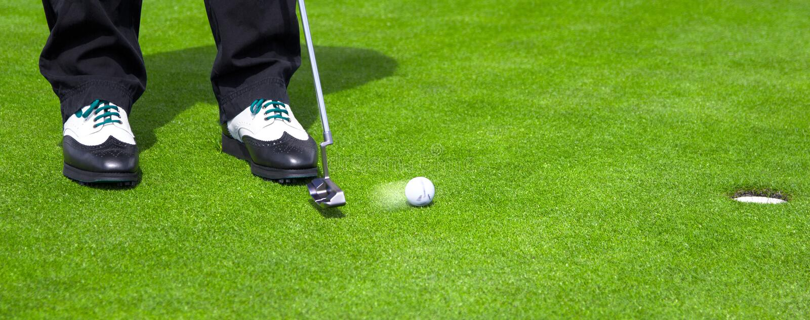 Golf Putt royalty free stock photography
