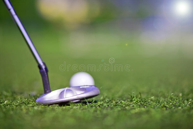 Golf Putter Play Royalty Free Stock Image