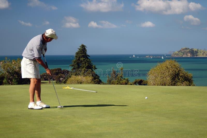 Golf - Putting stock image