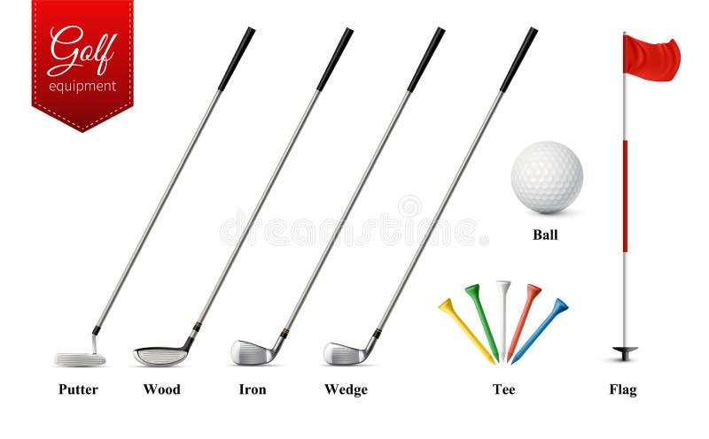 Golf Realistische Reeks royalty-vrije illustratie