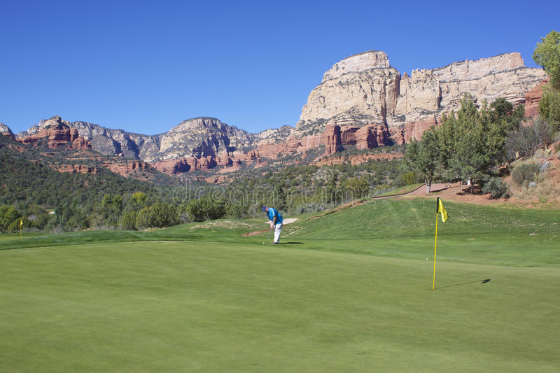 Golf in Red Rock Country stock image