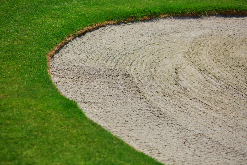 Golf sand bunker royalty free stock images