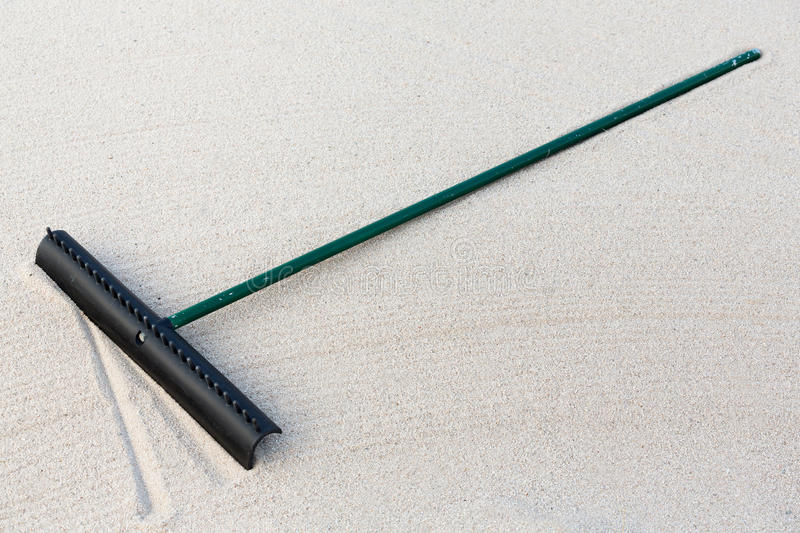 Download Golf Sand Rake stock photo. Image of lawn, nobody, garden - 28643414
