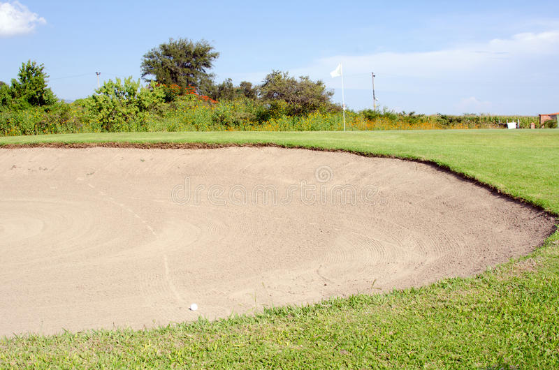 Golf sand trap royalty free stock photos