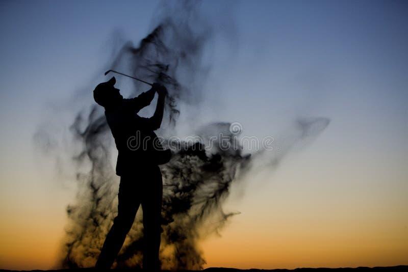 Golf-Schattenbild stockbild