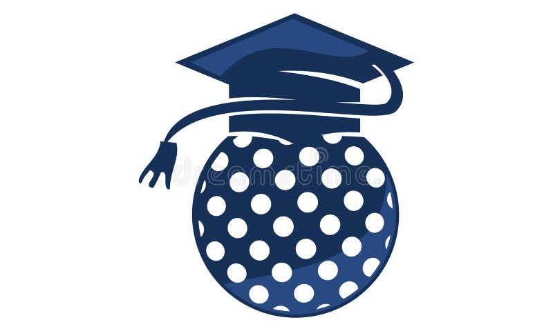 Golf School Graduation Cap vector illustration