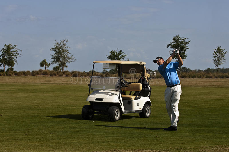 Golf-Schwingen stockfotos