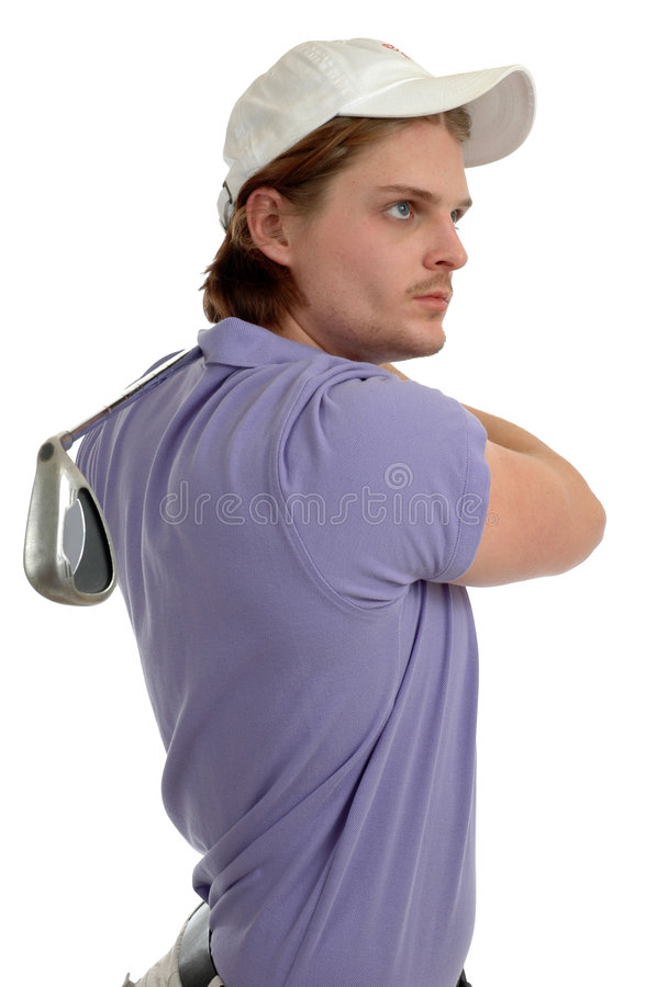 Golf-Schwingen stockbilder