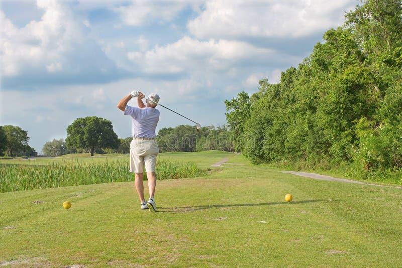 Golf-Schwingen stockfotografie