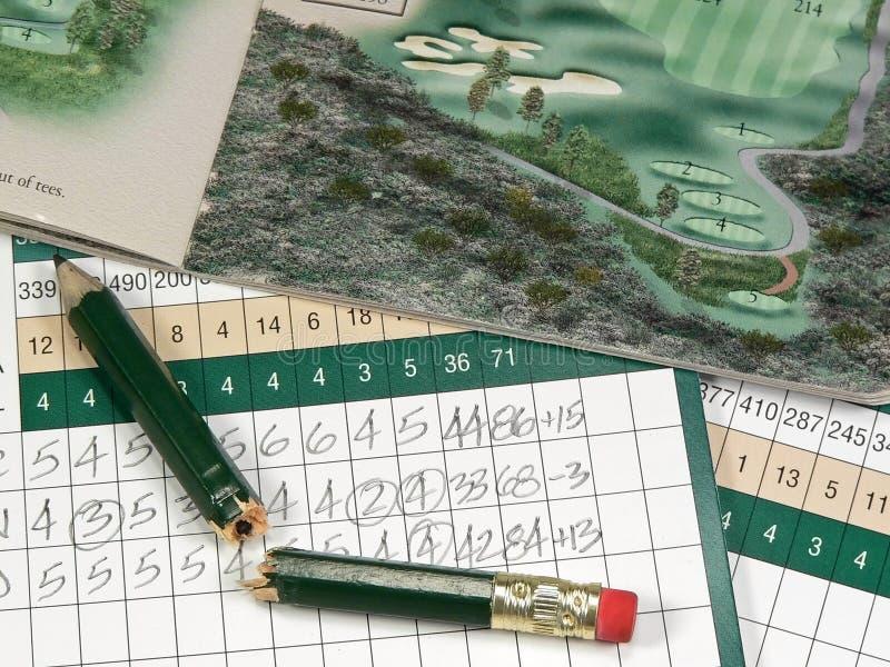 Golf Scorecards royalty-vrije stock foto