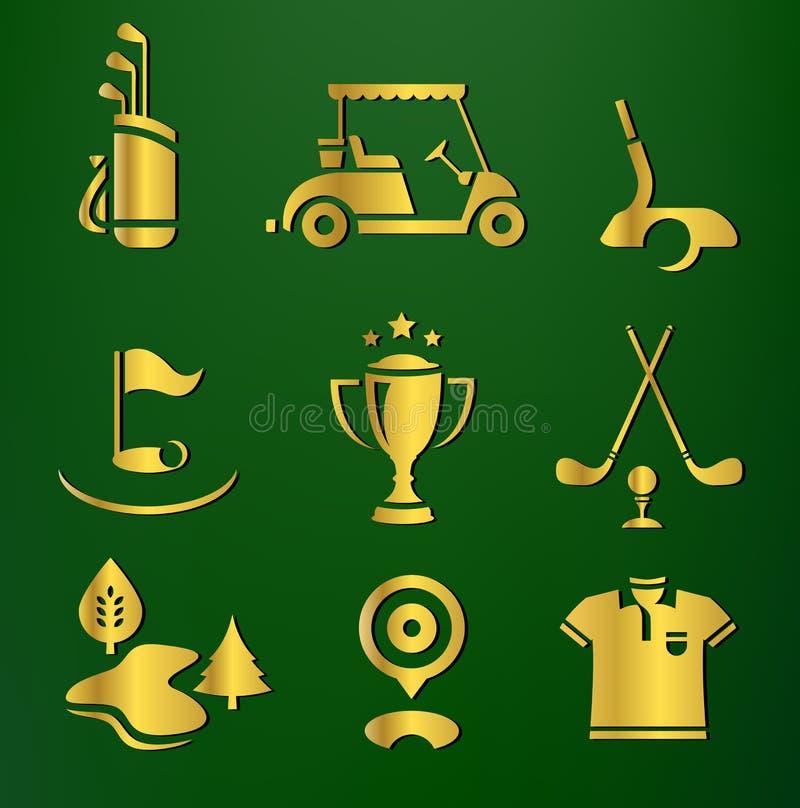Download Golf set stock vector. Image of golfer, golden, hole - 24145373