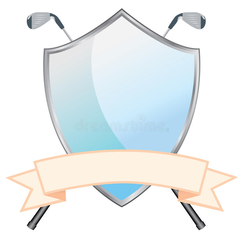 Golf Shield royalty free stock photo