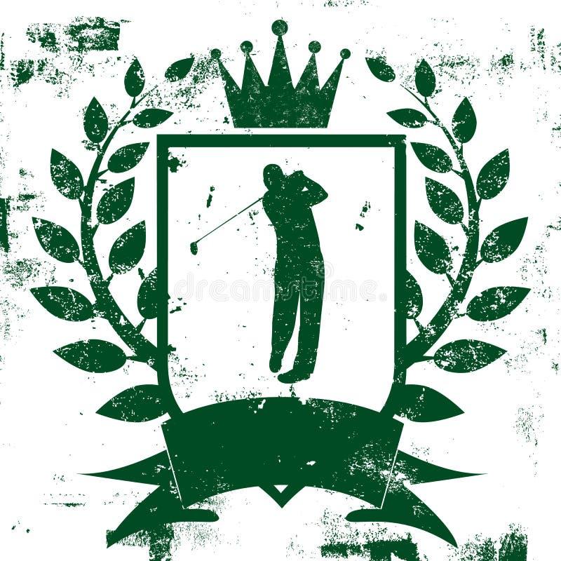 Golf Shield Insignia royalty free illustration