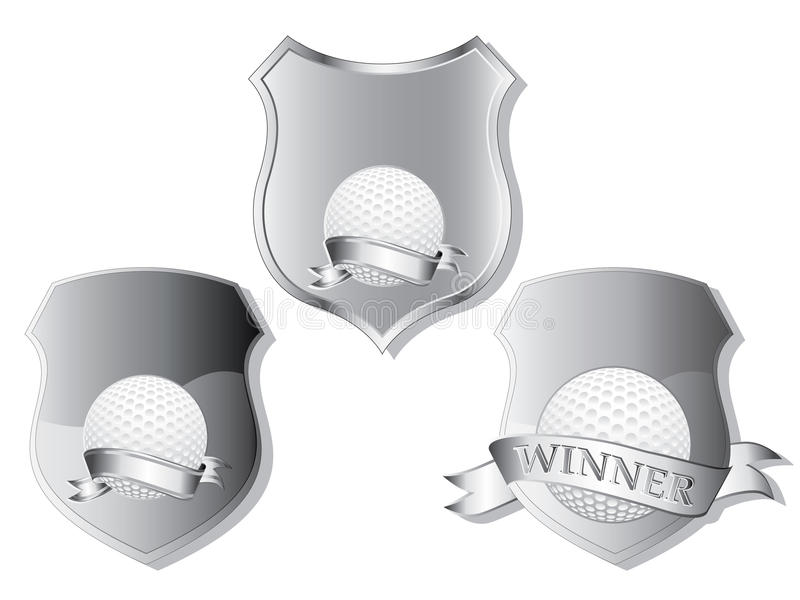 Download Golf shields stock vector. Image of champion, isolated - 20085218