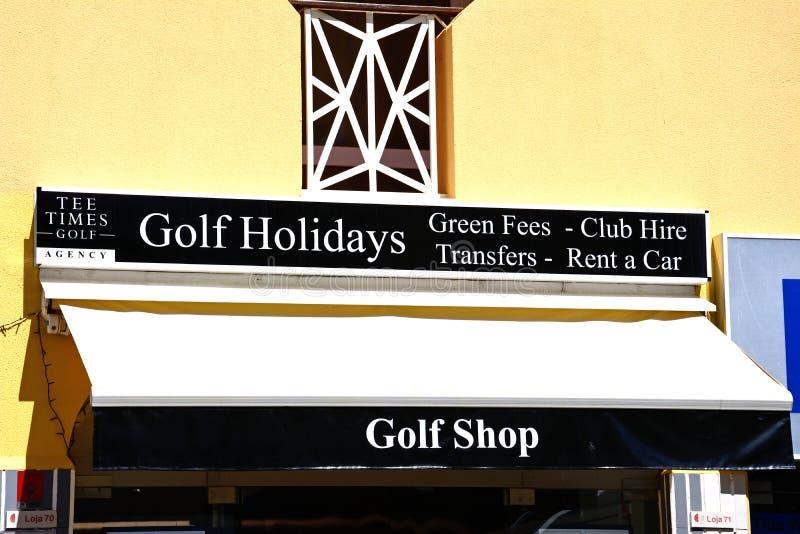 Golf shop, Vilamoura. royalty free stock image