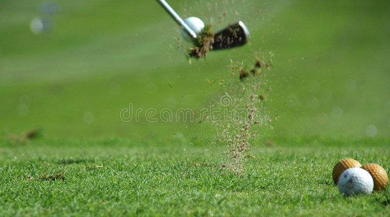 Golf Shot stock image