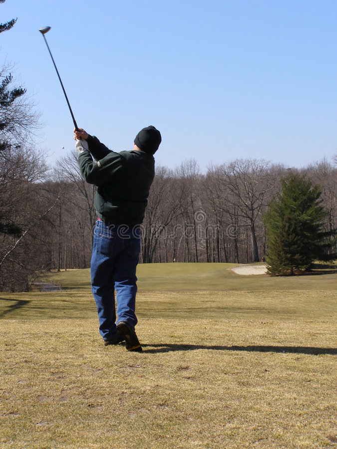 Golf Shot royalty free stock photo