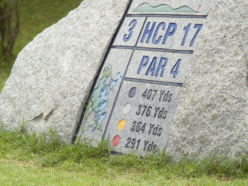 Download Golf sign stock photo. Image of stone, grass, information - 3198786