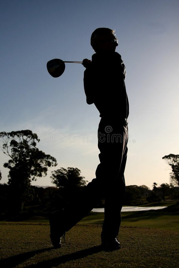 Golf Silhouette Stock Photography
