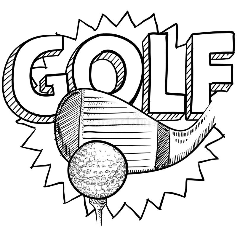Golf Sketch Royalty Free Stock Images