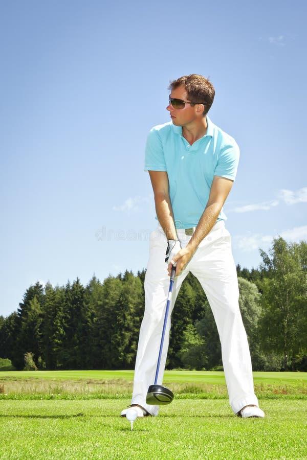 golf spelare royaltyfria bilder