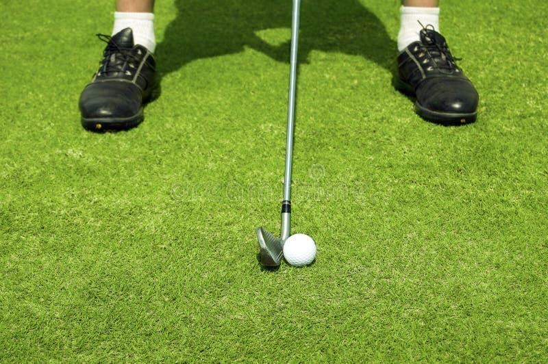 Golf spielen. stockfotografie