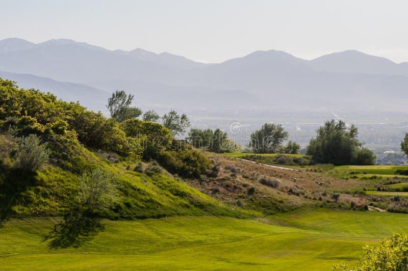 Golf spielen in den Schichten stockbilder