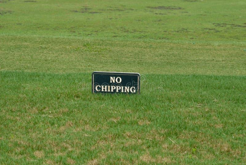 Golf spielen keines abbrechenzeichens stockfotos
