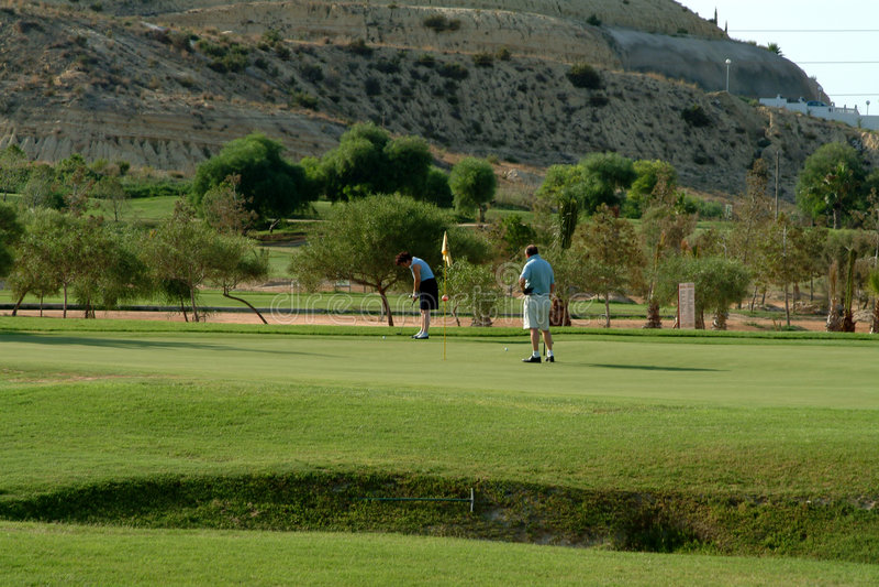 Golf Spielen In Spanien Stockbild