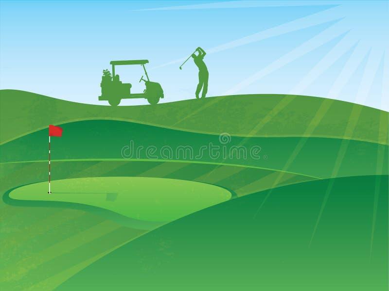 Golf spielende Abbildung vektor abbildung