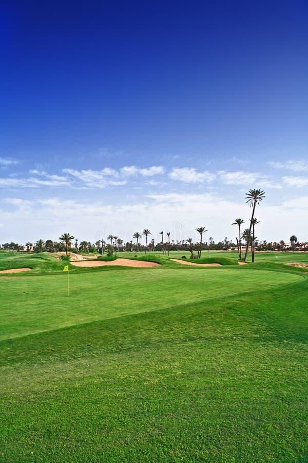 Golf spielender Kurs lizenzfreies stockfoto