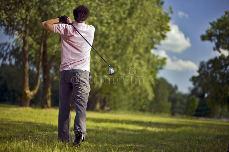 Golf-Spieler stockfoto