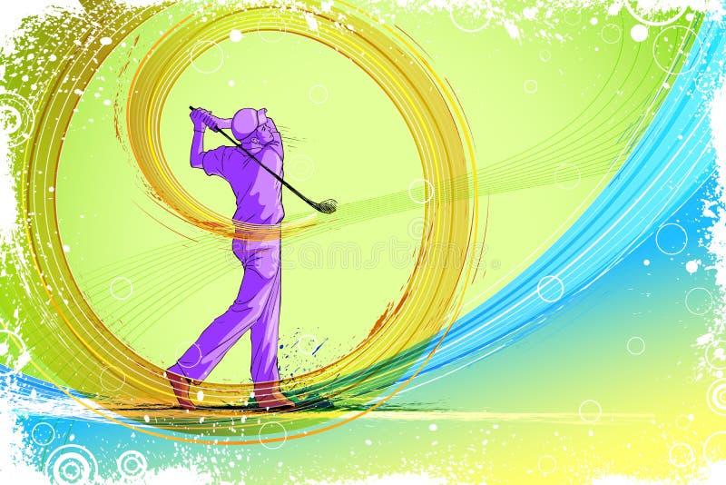 Golf-Spieler vektor abbildung