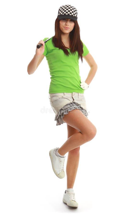 Golf-Spieler-Frau. lizenzfreie stockfotos