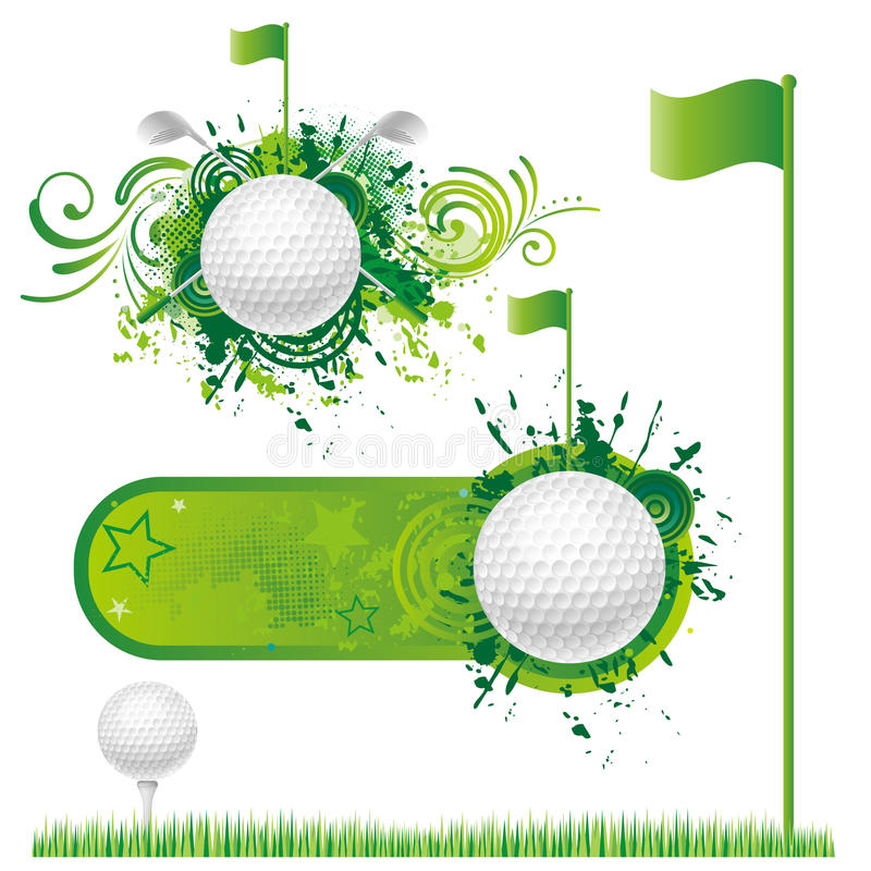 Download Golf sport stock vector. Image of golf, ornament, blank - 15441172