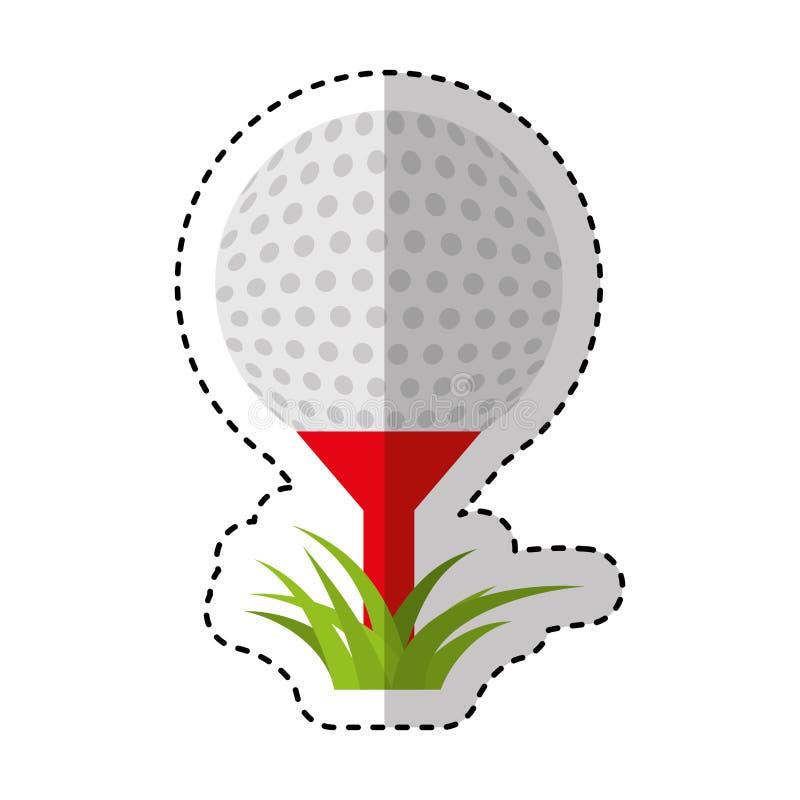 Golf sport ball icon royalty free illustration