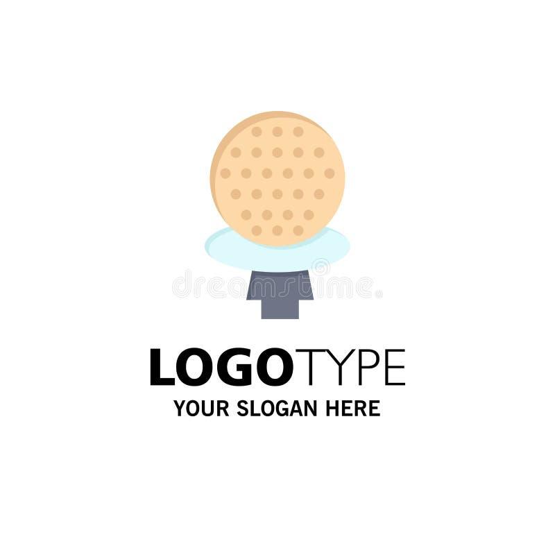 Golf, Sport, Spiel, Hotel-Geschäft Logo Template flache Farbe lizenzfreie abbildung