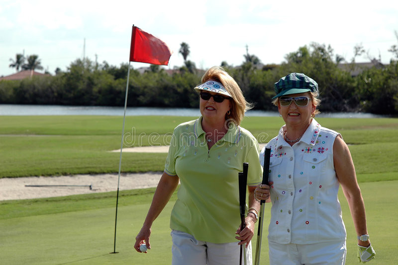 golf starsze kobiety fotografia stock