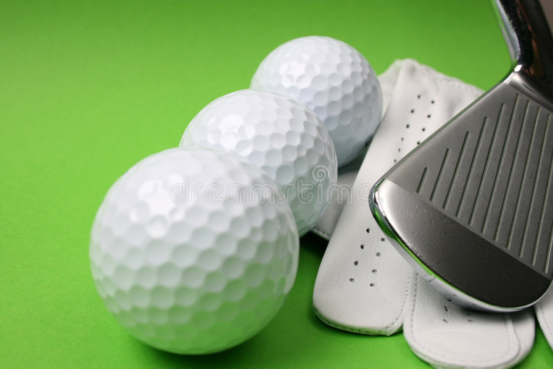 Golf Stuff stock image