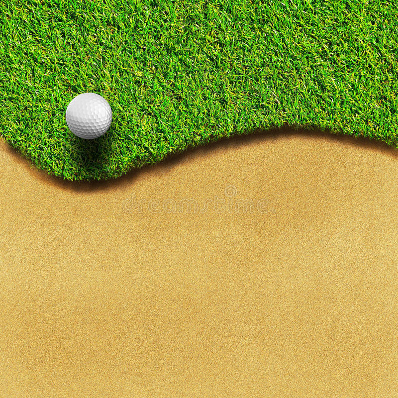 Golf sul corso dell'erba illustrazione di stock