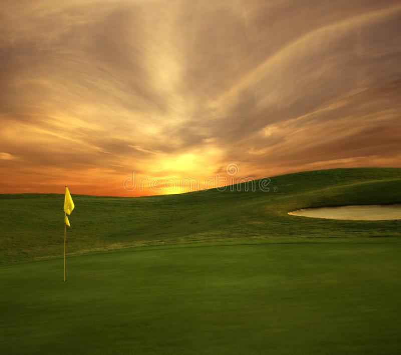 Golf Sunrise royalty free stock photo